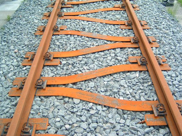 Track with Y-steel sleepers