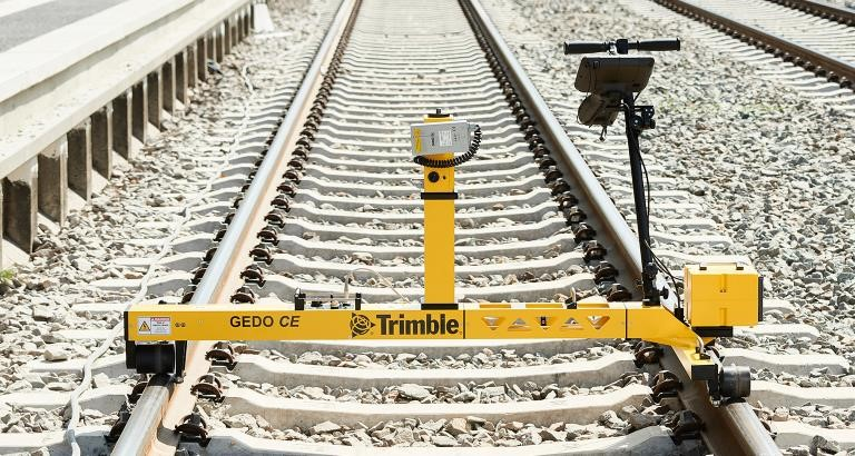 Track measuring system Trimble GEDO IMS Consisting of a track measuring trolley Trimble GEDO CE 2.0 with IMU and profiler